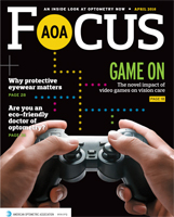 April 2016 AOA Focus Magazine cover