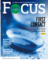 October 2015 AOA Focus Magazine cover