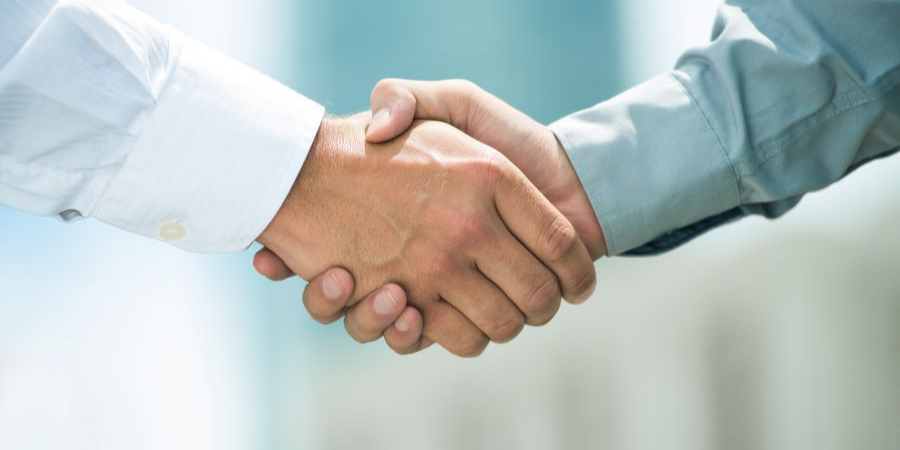 Shaking hands during job interview
